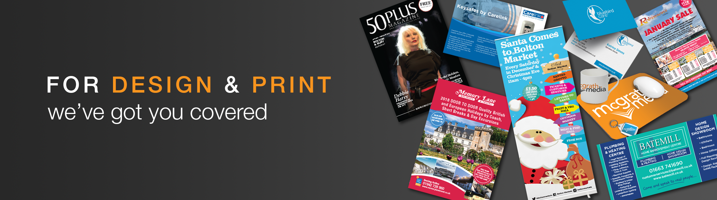 We are a bolton based business with over 20 years combined experience in design print we aim to make sure you get the best possible outcome in every